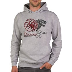 Game of Thrones - Herren Hoodie - The Dragon and the Wolf...